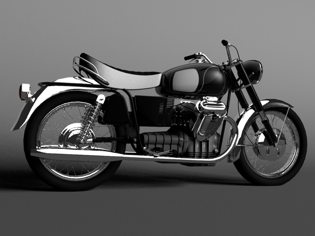 moto guzzi 850 california 1969 3d model 3ds max c4d obj 112331