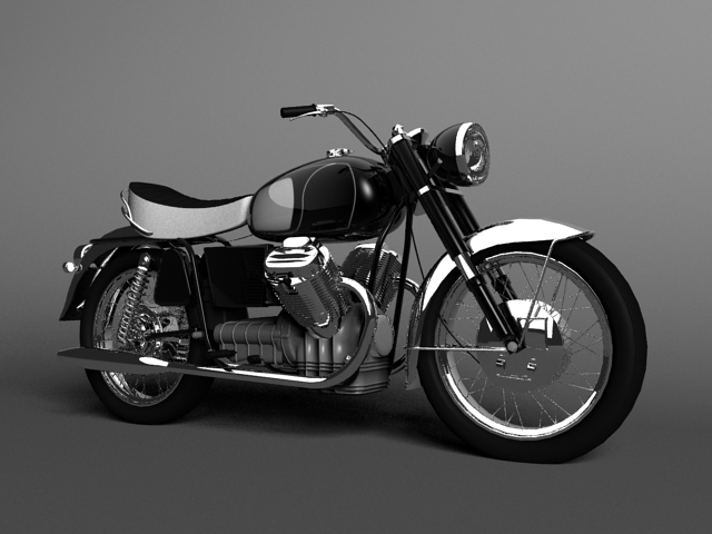 moto guzzi 850 california 1969 3d model 3ds max c4d obj 112332