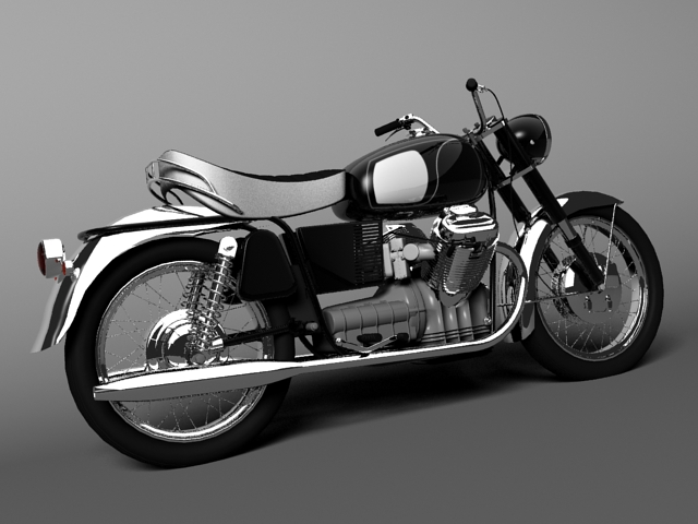 moto guzzi 850 california 1969 3d model 3ds max c4d obj 112333