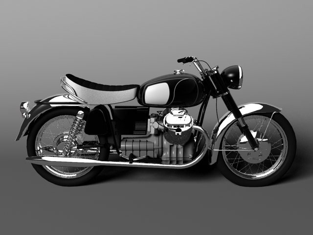 moto guzzi 850 california 1969 3d model 3ds max c4d obj 112334