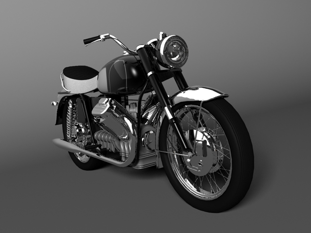 moto guzzi 850 california 1969 3d model 3ds max c4d obj 112336