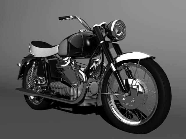 moto guzzi 850 california 1969 3d model 3ds max c4d obj 112337