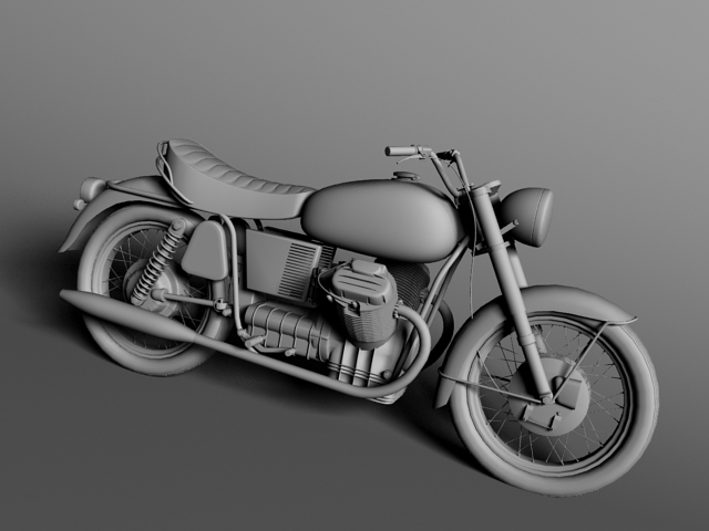 moto guzzi 850 california 1969 3d model 3ds max c4d obj 112338