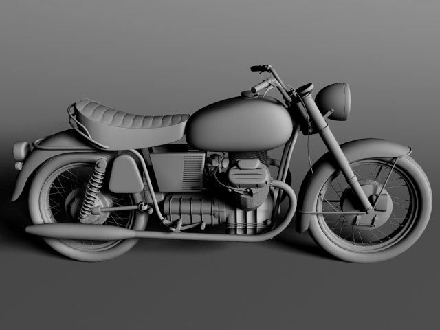 moto guzzi 850 california 1969 3d model 3ds max c4d obj 112339
