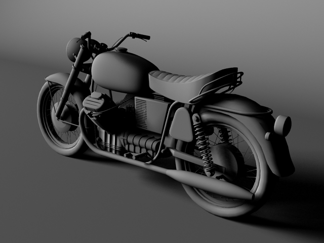 moto guzzi 850 california 1969 3d model 3ds max c4d obj 112340