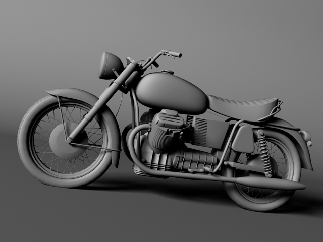moto guzzi 850 california 1969 3d model 3ds max c4d obj 112341