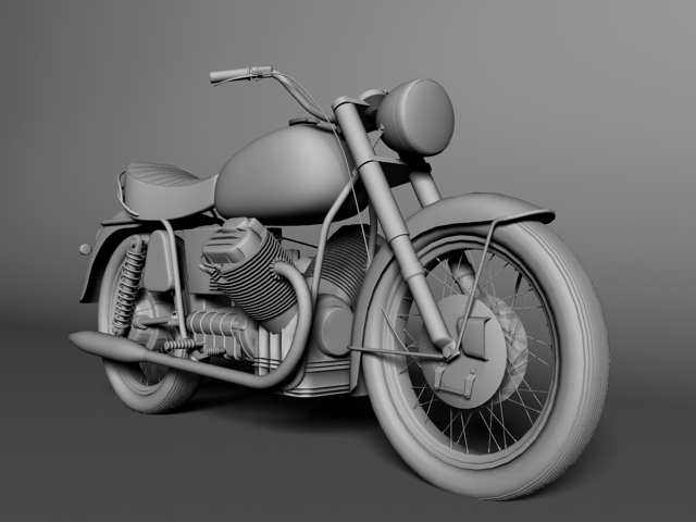 moto guzzi 850 california 1969 3d model 3ds max c4d obj 112342