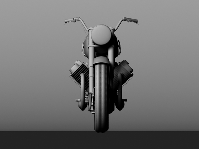 moto guzzi 850 california 1969 3d model 3ds max c4d obj 112343