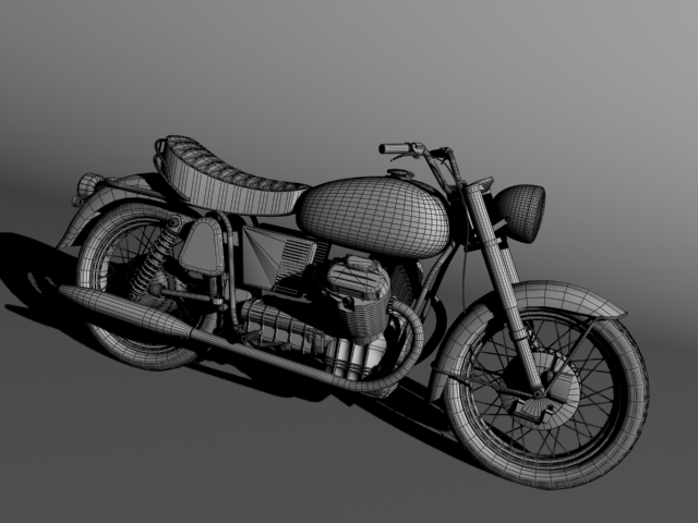 moto guzzi 850 california 1969 3d model 3ds max c4d obj 112344