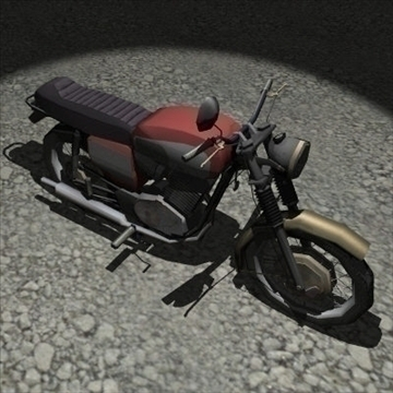 old bike 3d model 3ds 97527
