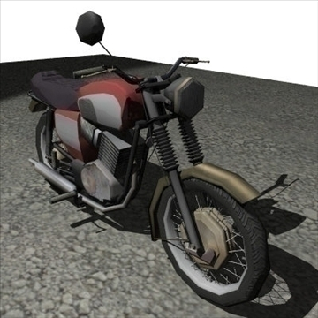 old bike 3d model 3ds 97529