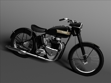 triumph 6t 1949 3d model 3ds max c4d obj 105298