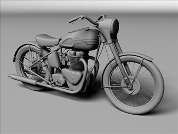triumph 6t 1949 3d model 3ds max c4d obj 105302