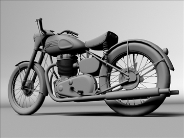 triumph 6t 1949 3d model 3ds max c4d obj 105304