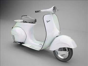 vespa 125 1960 modeliranje 3d model 3ds 102628