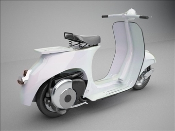vespa 125 1960 modeling 3d model 3ds 102629