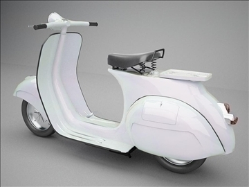 vespa 125 1960 modeling 3d model 3ds 102630