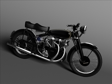 vincent black shadow 1950 3d model 3ds max c4d obj 100733