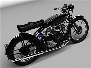 vincent black shadow 1950 3d model 3ds max c4d obj 100737