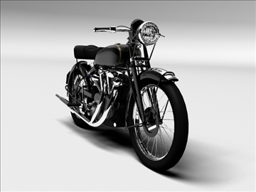 vincent black shadow 1950 3d model 3ds max c4d obj 100738
