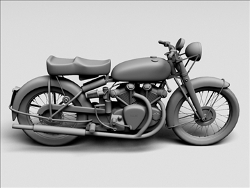vincent black shadow 1950 3d model 3ds max c4d obj 100739