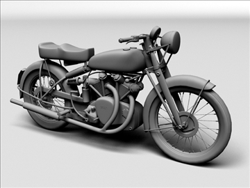 vincent black shadow 1950 3d model 3ds max c4d obj 100740