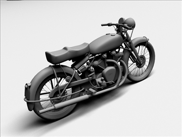 vincent black shadow 1950 3d model 3ds max c4d obj 100741