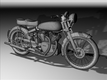 vincent black shadow 1950 3d model 3ds max c4d obj 100742