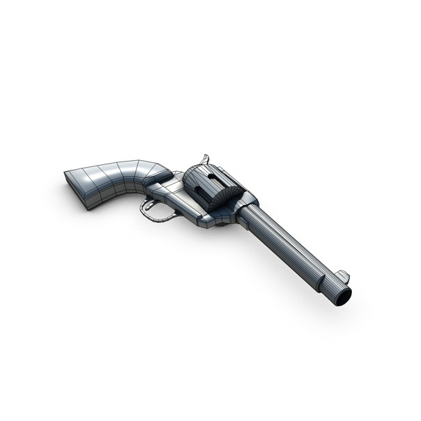 revolver 2 3d model 3ds max fbx c4d obj 138653