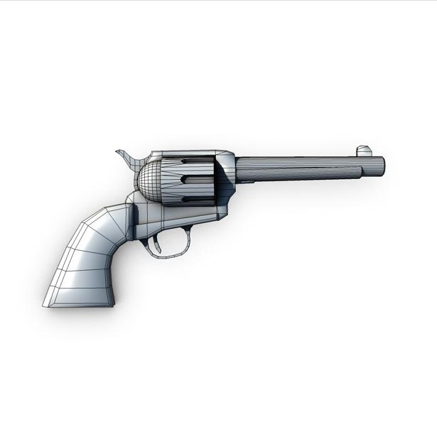 revolver 2 3d model 3ds max fbx c4d obj 138654