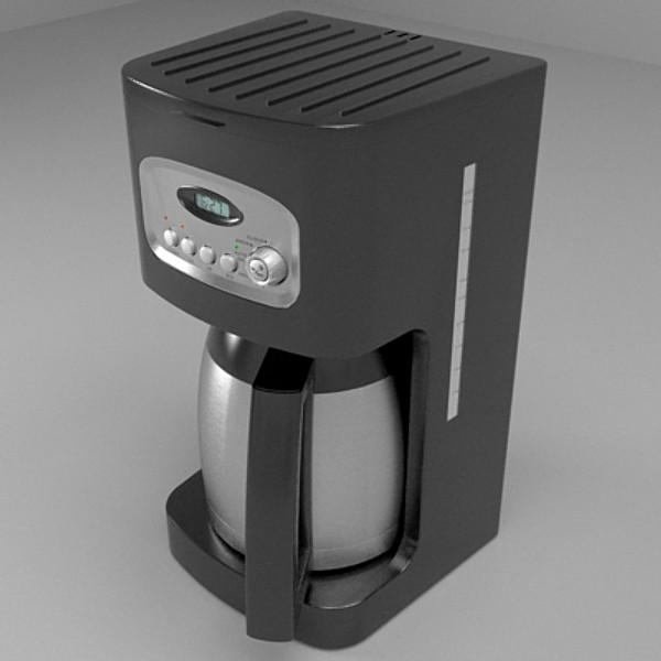 coffee machine 3d model 3ds fbx skp obj 115285