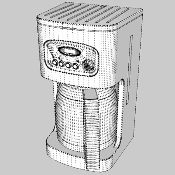 coffee machine 3d model 3ds fbx skp obj 115294
