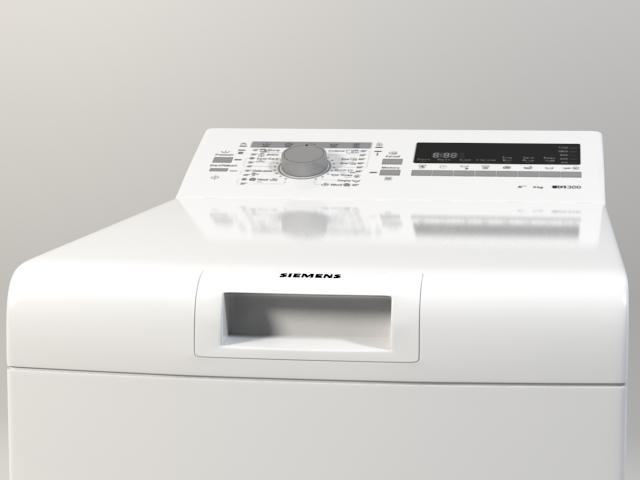 washer siemens iq 300 wp12t254by 3d model 3ds max fbx obj 158356