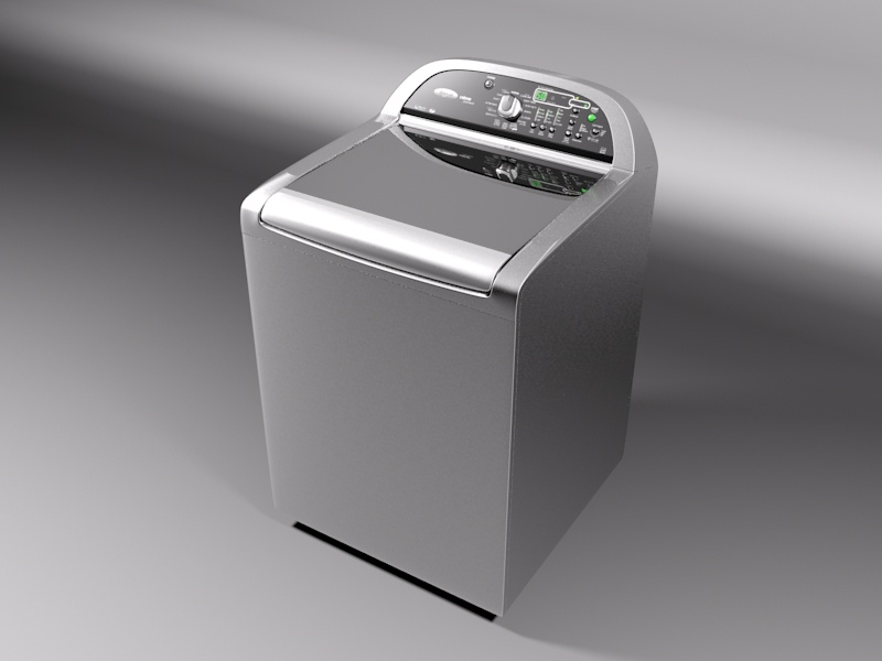 whirlpool cabrio washing machine 3d model 3ds max 130979