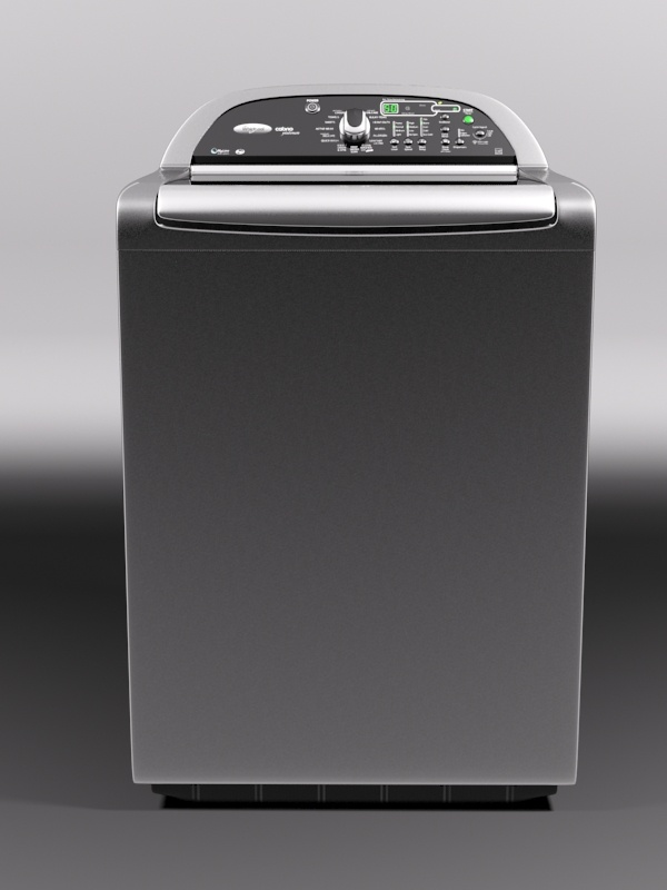 whirlpool cabrio washing machine 3d model 3ds max 130980