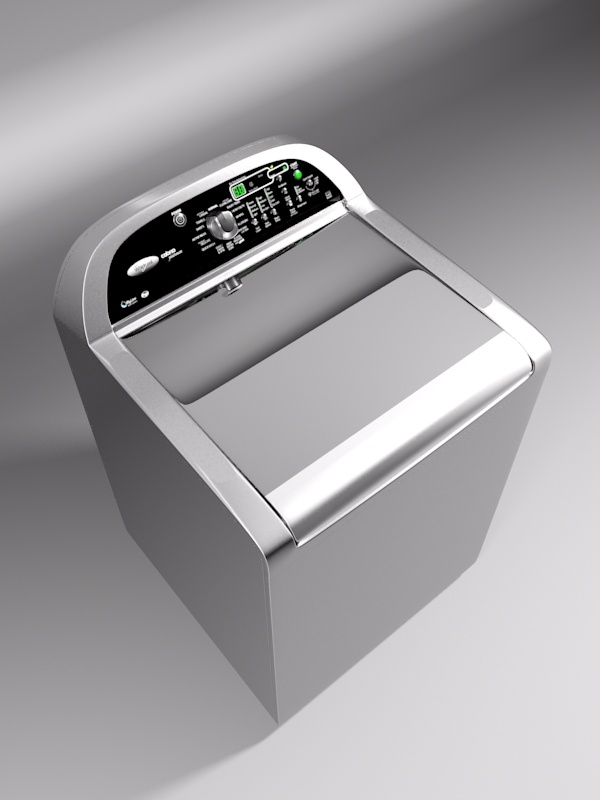 whirlpool cabrio washing machine 3d model 3ds max 130981
