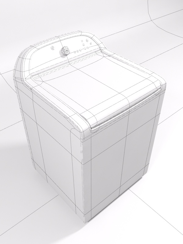 whirlpool cabrio washing machine 3d model 3ds max 130984