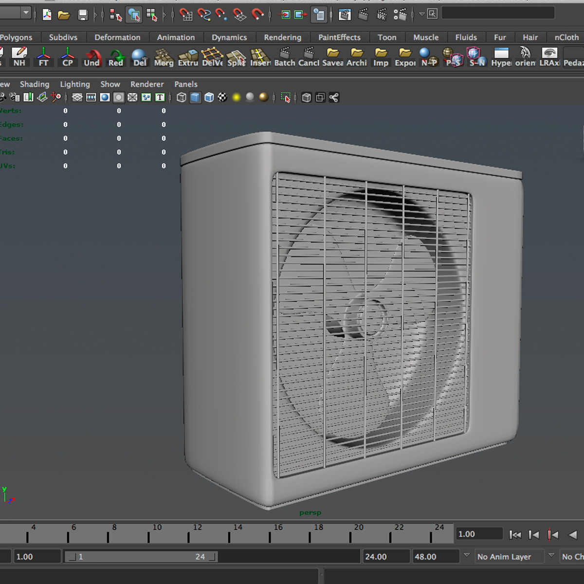 air conditioning 3d model 3ds max fbx c4d ma mb obj 159479