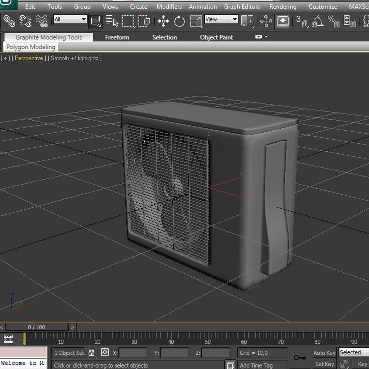 air conditioning 3d model 3ds max fbx c4d ma mb obj 159481