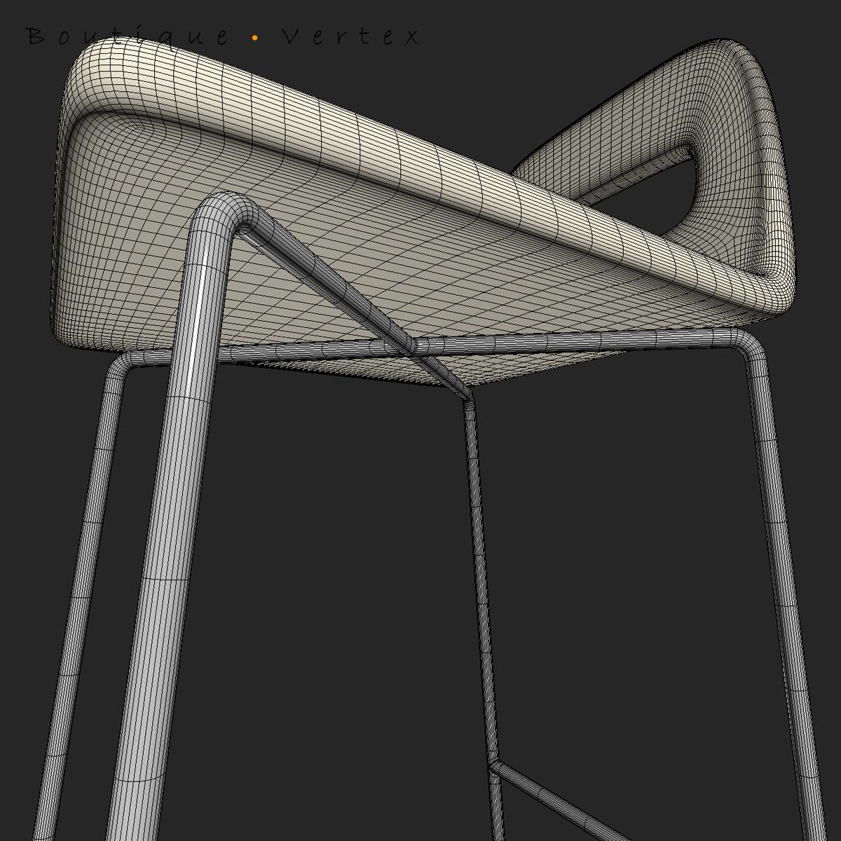 kitchen stool 01 3d model 3ds max dwg fbx obj 129672