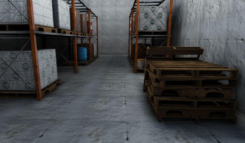 low-poly warehouse decoration set 3d model fbx 150990