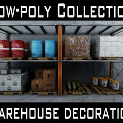 Low-poly warehouse decoration set ( 472.29KB jpg by William_pow )