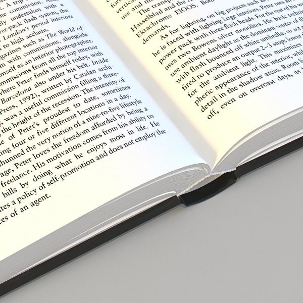 opened book 3d model 3ds max dxf fbx c4d jpeg jpg lwo hrc xsi texture wrl wrz obj 118920