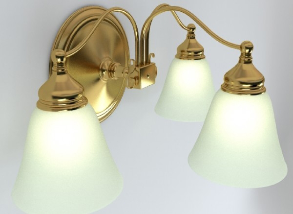 wall light fixture 3d model 3ds max obj 147562