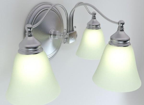 wall light fixture 3d model 3ds max obj 147563