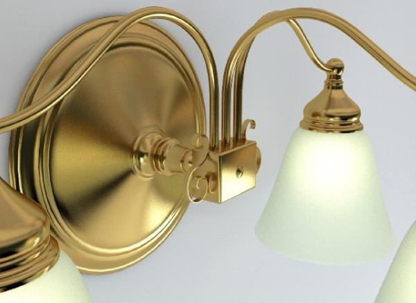 wall light fixture 3d model 3ds max obj 147564