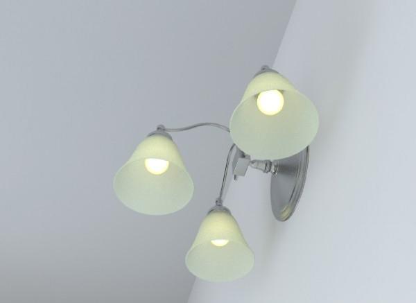 wall light fixture 3d model 3ds max obj 147565