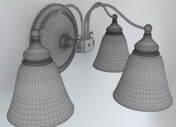 wall light fixture 3d model 3ds max obj 147566
