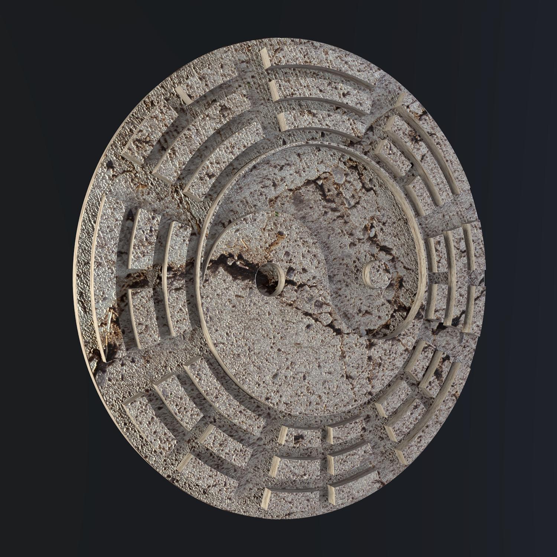 yin yang menandatangani 3d model campuran obj 116233