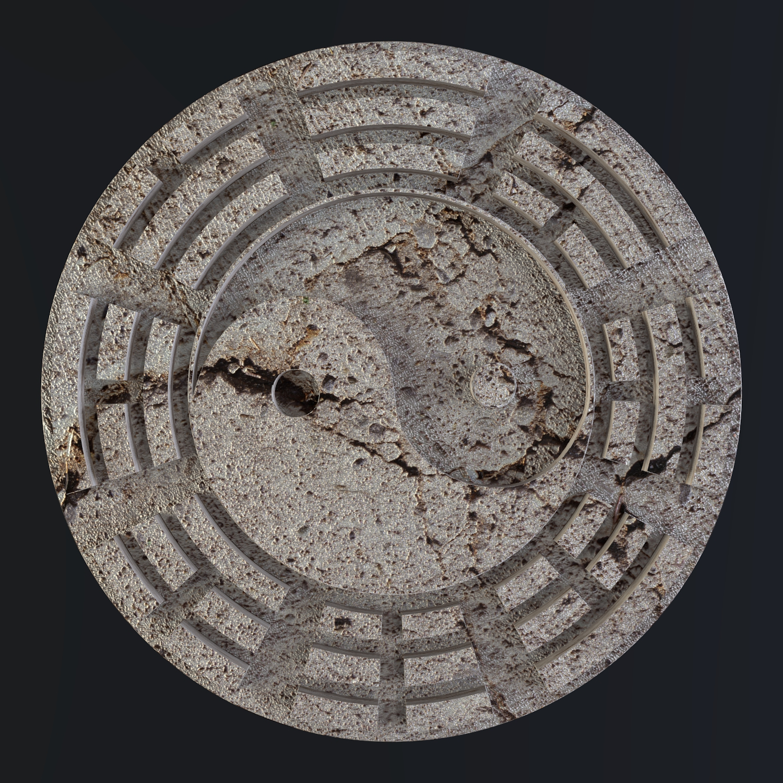 yin yang sign 3d model blend obj 116234